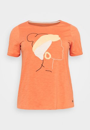 FRONT ARTWORK - Print T-shirt - sundown coral