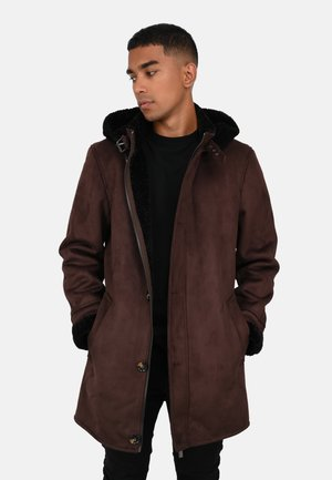 DYLAN - Short coat - dark brown