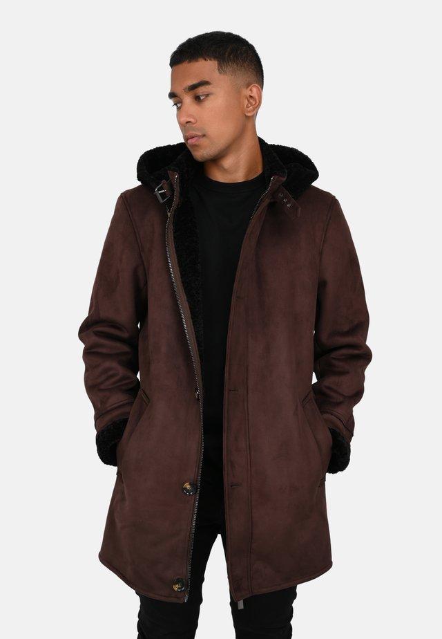 DYLAN - Short coat - dark brown