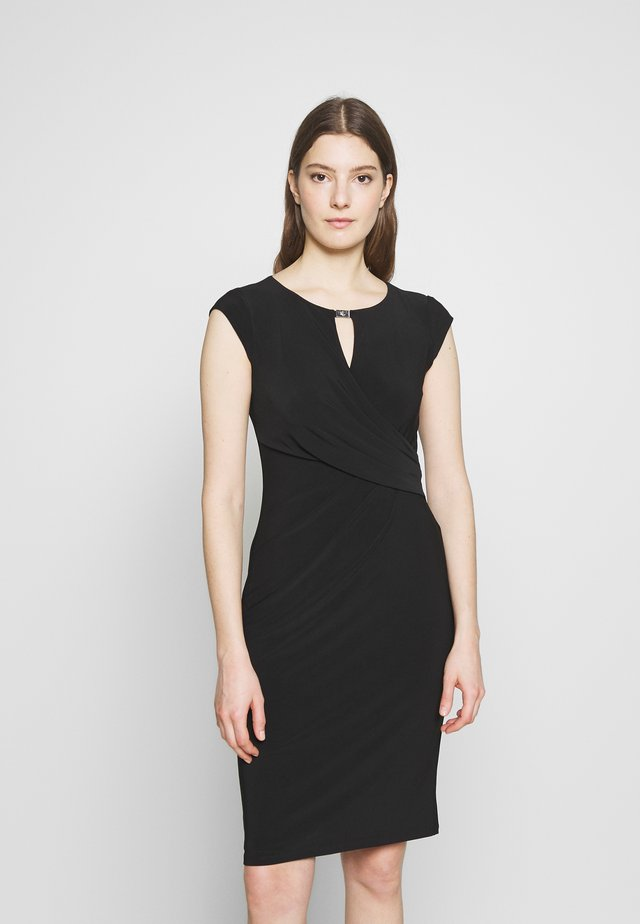 MID WEIGHT DRESS - Etuikjoler - black