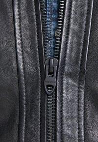 Jack & Jones PREMIUM - Leather jacket - black - 3