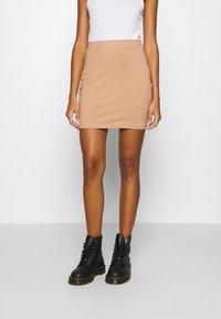 Even&Odd - 2 PACK - Minifalda - black/camel - 3