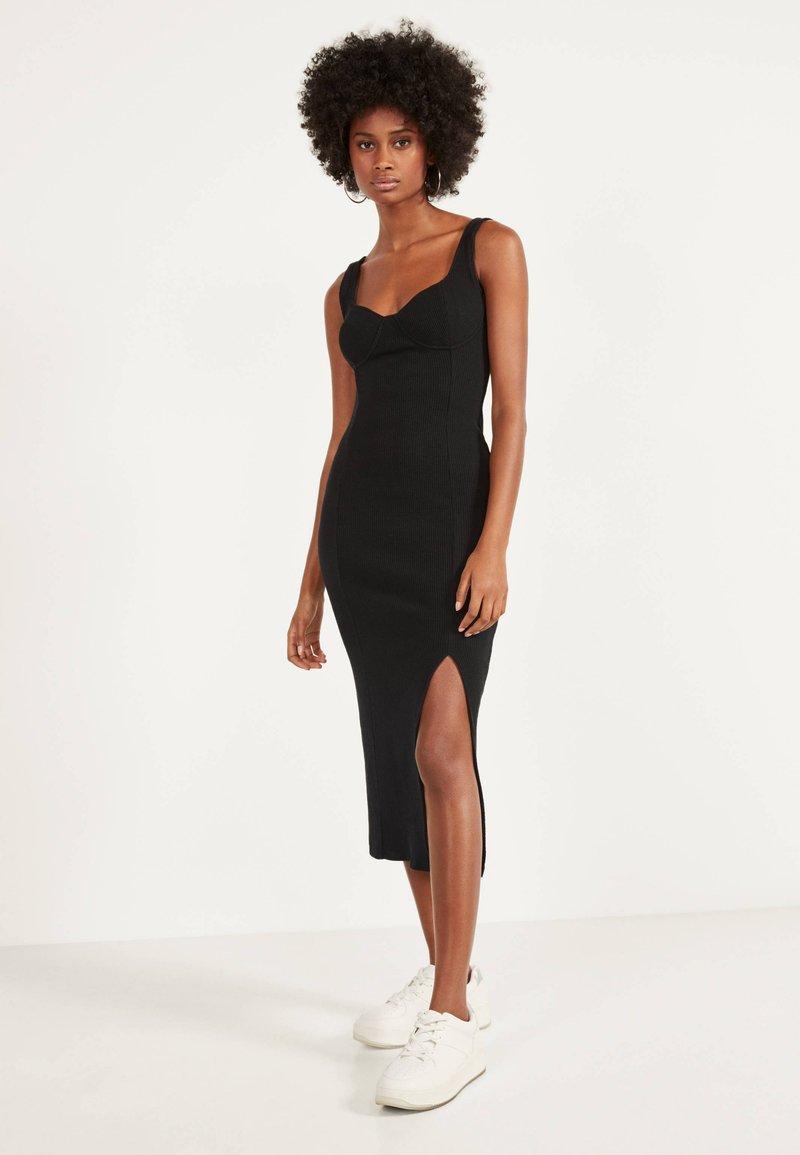 Bershka - Jumper dress - black