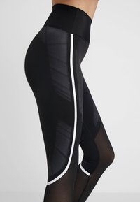 adidas Performance - SPORT CLIMACOOL WORKOUT HIGH WAIST LEGGINGS - Leggings - black/white - 3