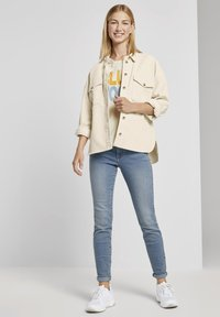 TOM TAILOR DENIM - Button-down blouse - soft creme beige - 1
