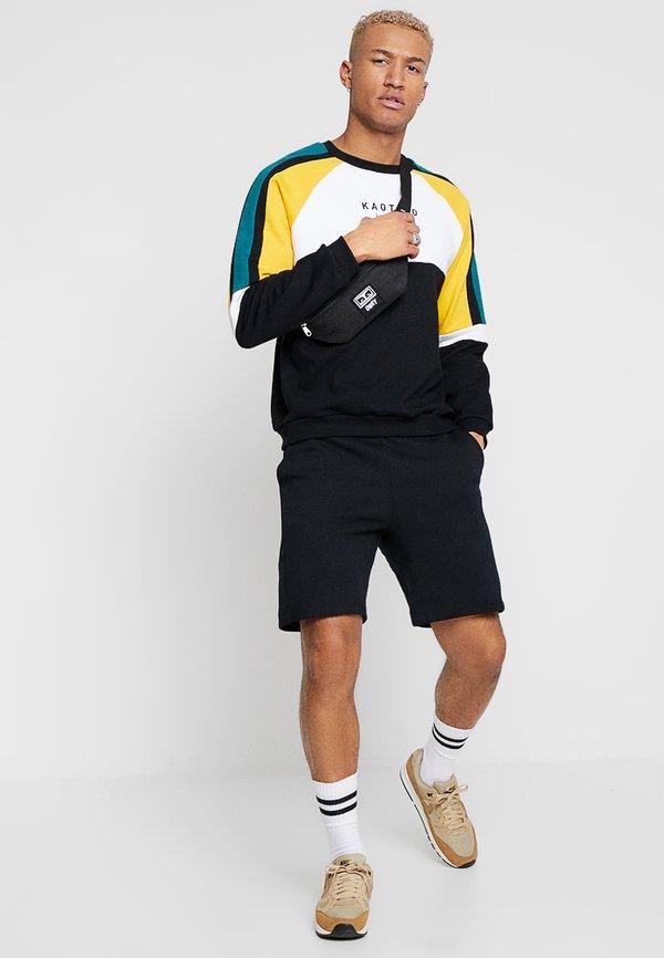 Kaotiko UNISEX - Bluza - black/white/yellow/czarny Odzież Męska FOHL