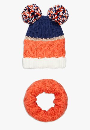 HAT SNOOD SET - Scarf - mandarine