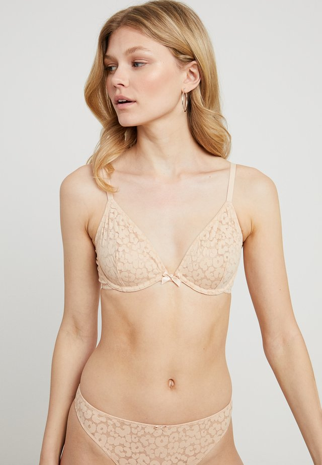 UNLINED BRA - Beugel BH - toasted almond