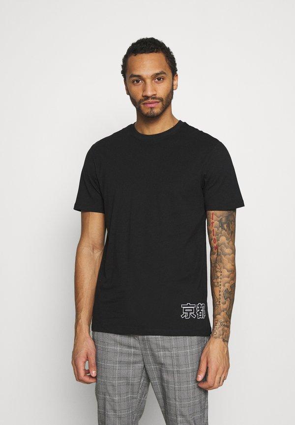 Only & Sons ONSAKI LIFE TEE - T-shirt z nadrukiem - black/czarny Odzież Męska YOZK