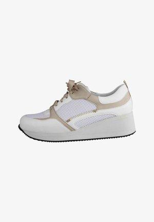 Sneakers laag - beige weiss