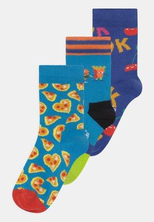 PIZZA LOVE & IT'S OK & BEST BUDS 3 PACK UNISEX - Sokken - multi-coloured