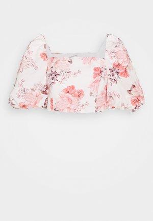 ELENA PUFF SLEEVE - Blůza - peach blossom floral