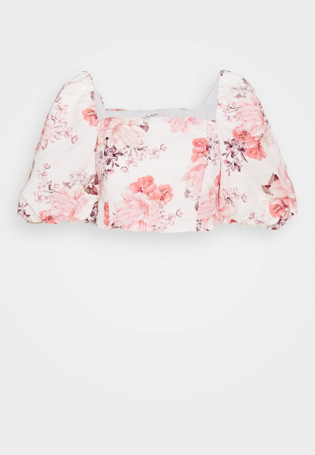 ELENA PUFF SLEEVE - Bluse - peach blossom floral