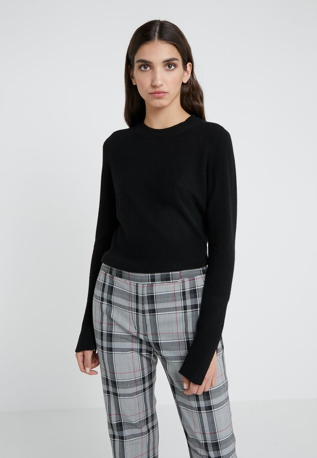 EXCLUSIVE CREWNECK - Sweter - black