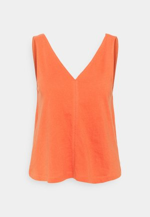 CRINKLED V NECK - Débardeur - sundown coral