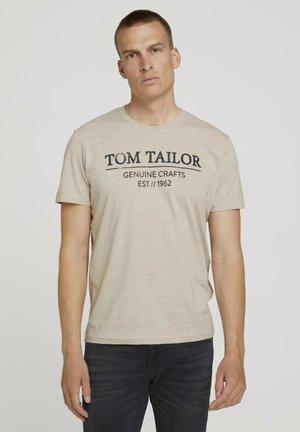 T-shirt print - cosy soft beige melange