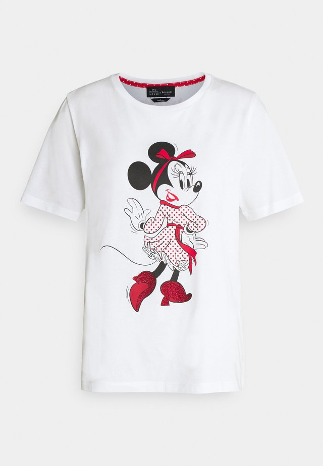 MINNIE MOUSE TEE - Print T-shirt - fresh white