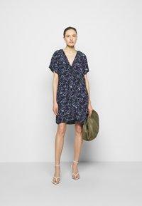 Iro - BAGO DRESS - Denní šaty - black/multicolored - 1