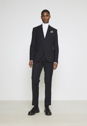 WINDOWPANE SUIT - Puku - blue