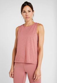 Casall - CROSSWAYS TEXTURED TANK - Toppi - calming red - 0