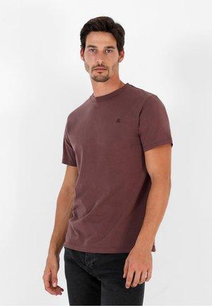 SKULL TEE - Basic T-shirt - dark burgundy