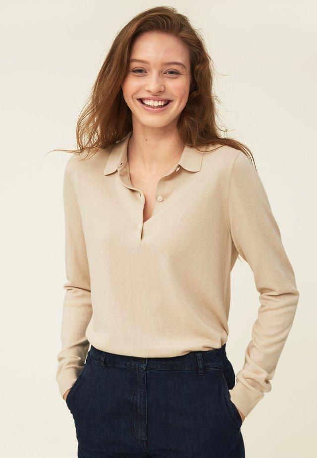 Polo shirt - light beige melange