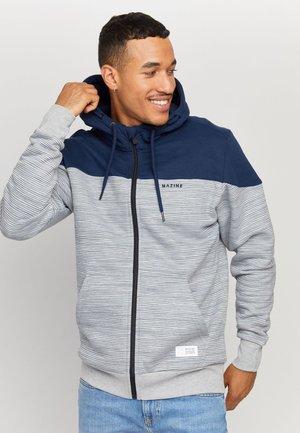 NESTON - Zip-up sweatshirt - navy/grey mel