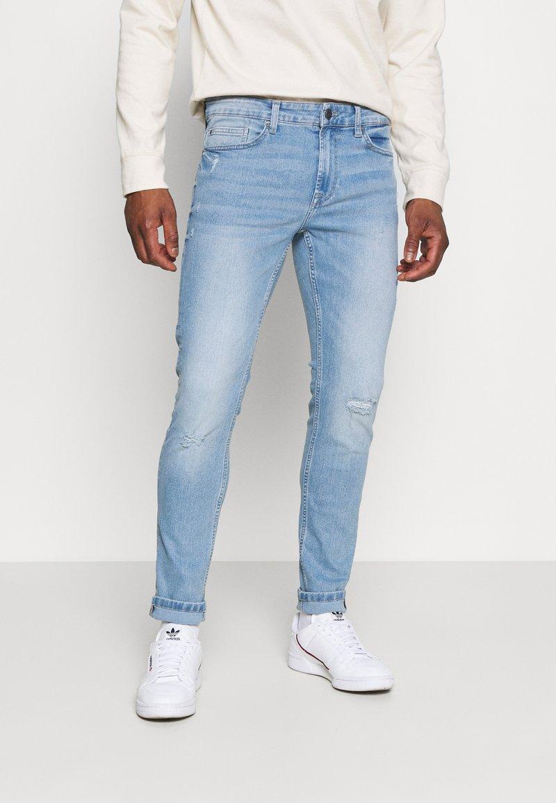 Only & Sons - ONSLOOM SLIM LIGHT BLUE DAMAGE - Slim fit jeans - blue denim