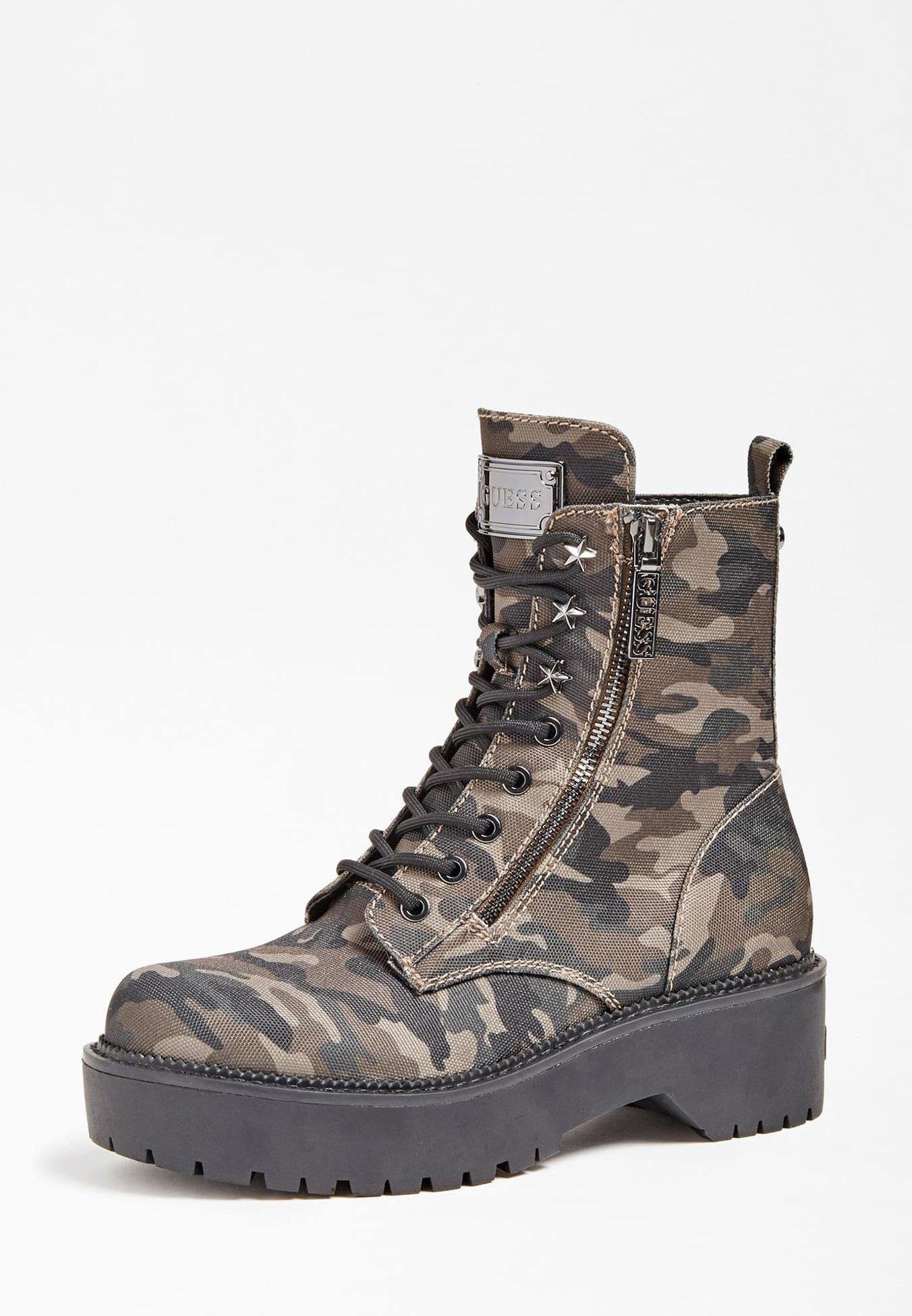 Guess Schnürstiefelette camouflage/mehrfarbig