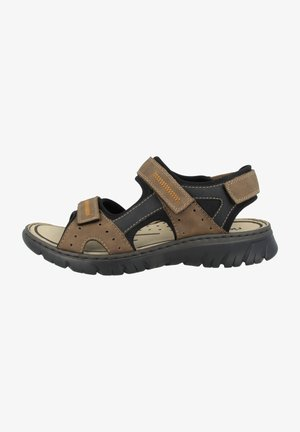 Walking sandals - almond-black-black