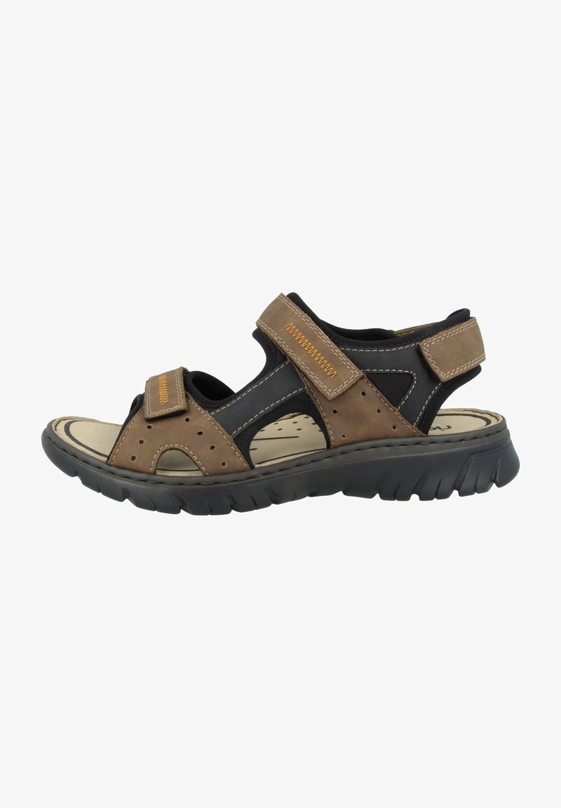 Rieker - Walking sandals - almond-black-black