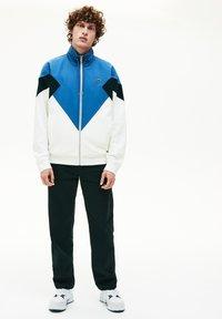 Lacoste - veste en sweat zippée - white/green/blue - 1