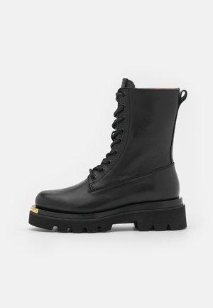 METAL - Platform ankle boots - black