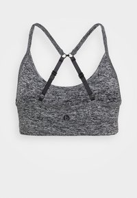 Cotton On Body - WORKOUT YOGA CROP - Sport BH - salt/pepper - 1