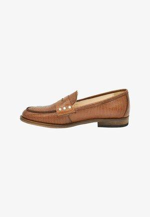 Slip-ons - sparkle brown