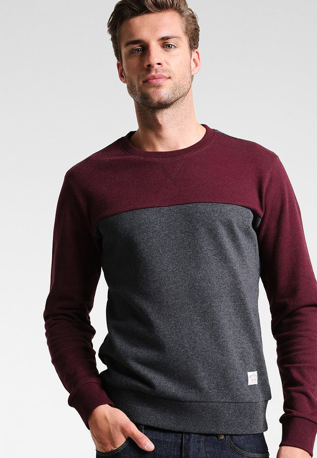 Sweatshirt - mottled bordeaux