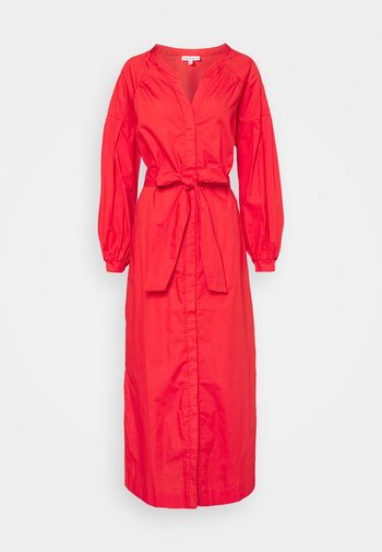 WILLA TIE WAIST DRESS - Shirt dress - red