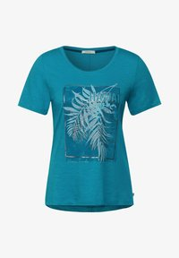 Cecil - MIT PARTPRINT - Print T-shirt - türkis - 3
