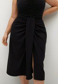 Violeta by Mango - SHARI - Wrap skirt - black - 0