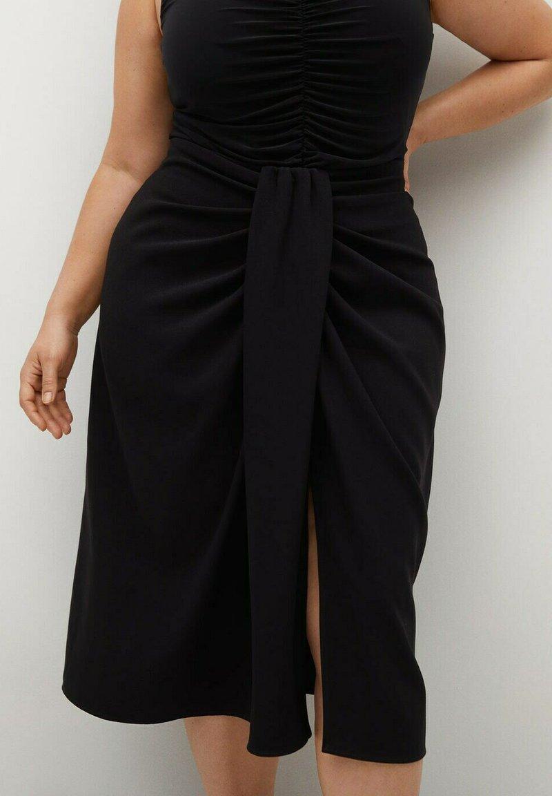 Violeta by Mango - SHARI - Wrap skirt - black