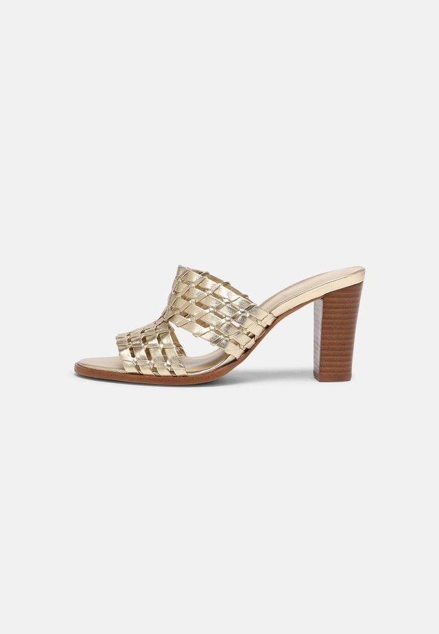 VIBONY - Heeled mules - gold