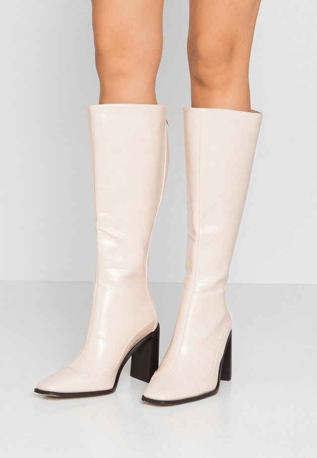 WIDE FIT CARRSON - High heeled boots - nude