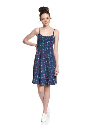 CAT PAWS & CHERRIES - Day dress - blue allover