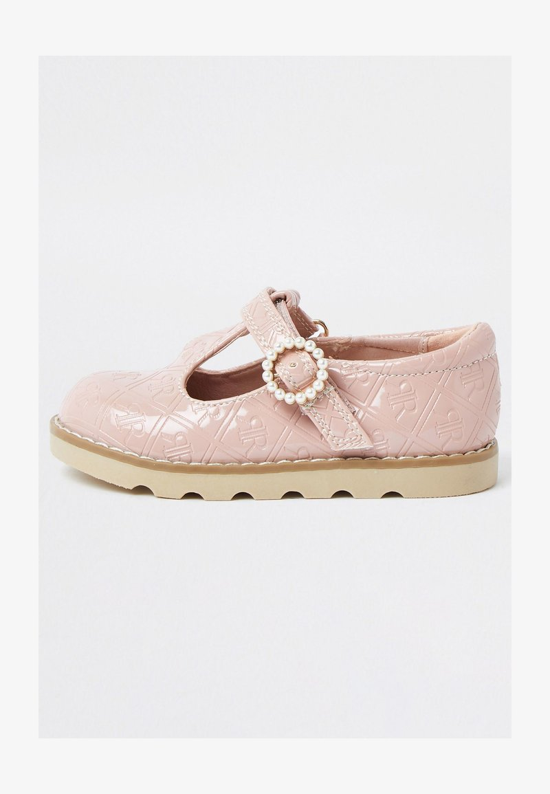 River Island - MONOGRAM - Touch-strap shoes - pink