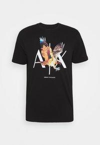 Armani Exchange - T-shirt print - black - 5