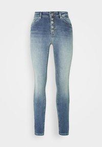 ONLBLUSH BUTTON - Skinny džíny - light blue denim