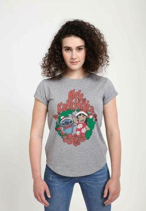 DISNEY CLASSICS MELE KALIKIMAKA STITCH  - T-shirts print - melange grey