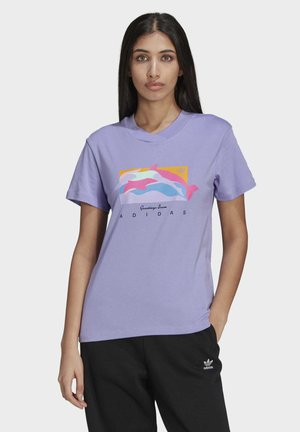 FAKTEN GRAPHIC T-SHIRT - T-shirt print - purple