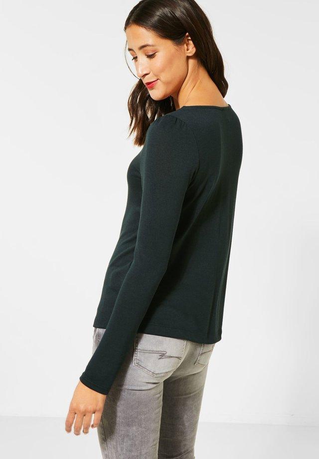 MIT PUFF-ÄRMELN - T-shirt à manches longues - grün