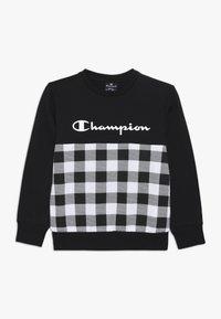 Champion - CHAMPION X ZALANDO CREWNECK - Sweatshirt - black/white - 0